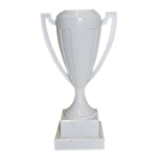 Trophy Shosholoza Cup on Wood Base White