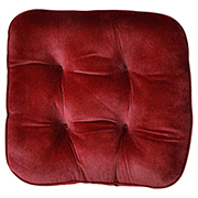 Tuck Cushion Velvet Wine Red