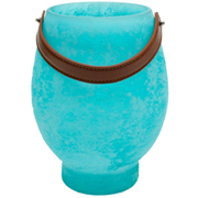 Turquoise Hurricane with Leather Handle