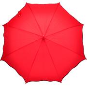 Umbrella Red with Black Scallop Trim