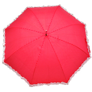 Umbrella Red with White Polka Dot