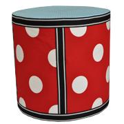 Upholstered Cylinder Poly Riser F