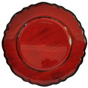 Venetian Under Plate Red