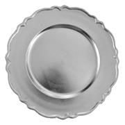 Venetian Under Plate Silver
