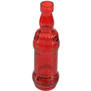Vintage Style Bottle B Red
