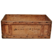 Vintage Wooden Crate A