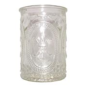 Vintage Embossed Glass Votive