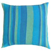 Weave Stripe Cushion Cover Blues