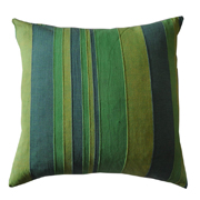 Weave Stripe Cushion Cover Greens