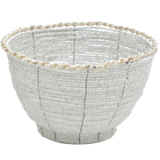 White Beaded Bowl