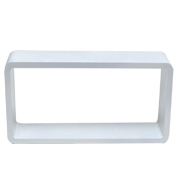 White Riser Rectangle Cube Corner B