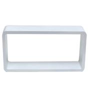 White Riser Rectangle Cube Corner B