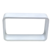 White Riser Rectangle Round Corner C