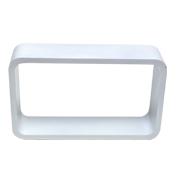 White Riser Rectangle Round Corner C