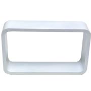 White Riser Rectangle Round Corner D