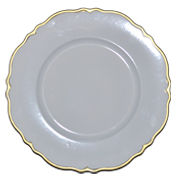 White Under Plate with Gold Rim