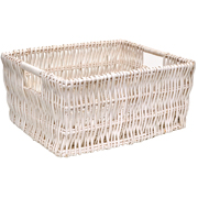 White Wicker Basket Large