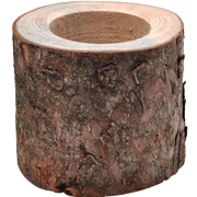 Wood Trunk Vase