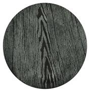 Wood Round Under Plate Grey