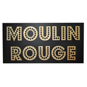 Wooden Moulin Rouge Sign