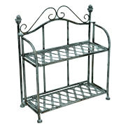 Wrought Iron Pot Plant Shelf 2 Rack