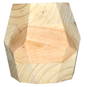 Geometric Wooden Vase Large