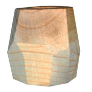 Geometric Wooden Vase Small