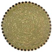 Grass Swazi Mat Round Beads