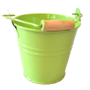 Lime Green Tin Bucket Small Size