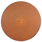 Orange and Brown Spiral Mat