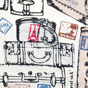Runner Vintage Suitcase Travel on Beige