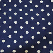 Top Cloth Polka Dot Minimat Royal Blue and White